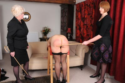 Housemaid double caning at spankingsarah