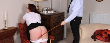 The cane on a bare bottom