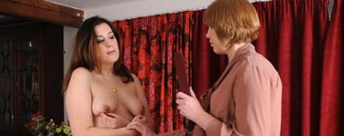 Breasts beaten at spanking sarah