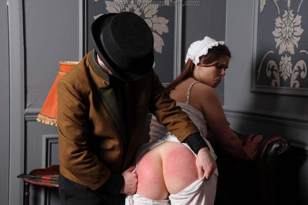 My husband spank maid