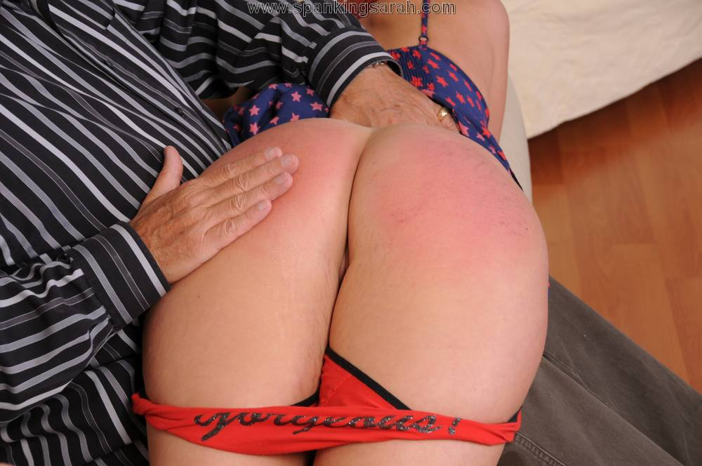 redhead spanked bare butt